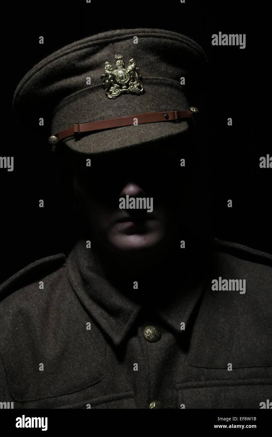 world war one soldier - Stock Image