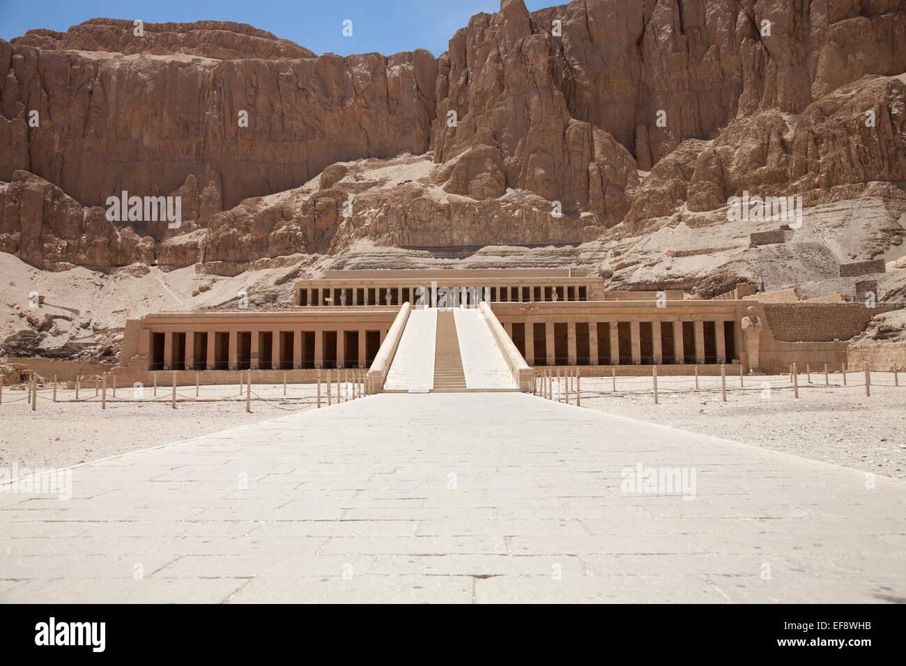 Hatchepsut temple in Luxor, Egypt - Stock Image