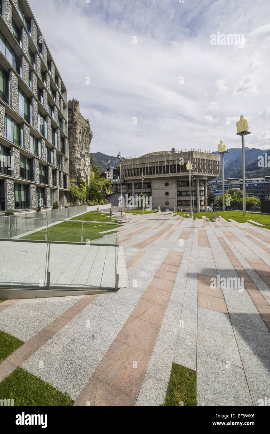 Consell General, Andorra la Vella, capital city of Andorra, Andorra Stock Photo