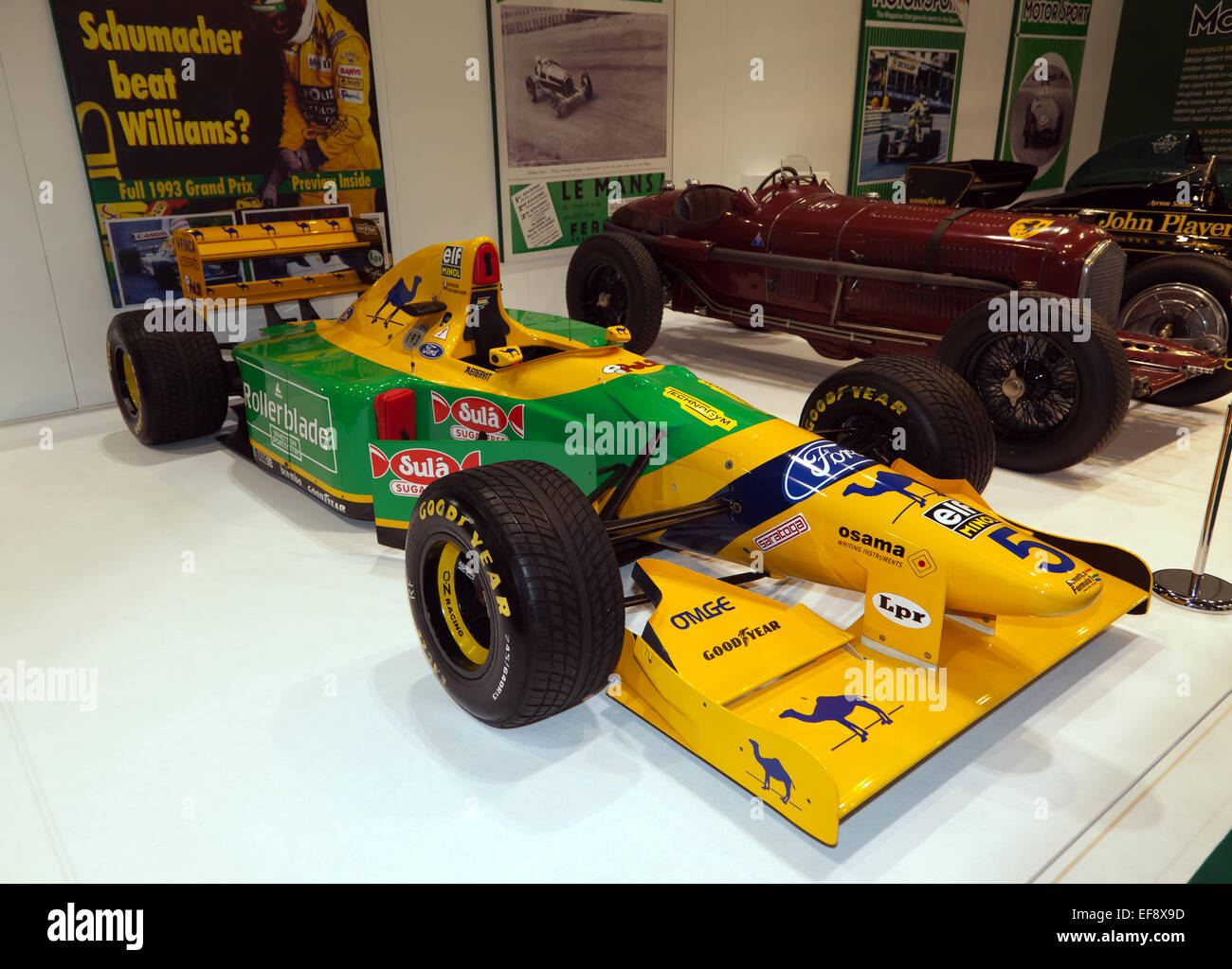Michael Schumacher's 1993 Benetton B193: designed by Ross Brawn, Schumacher regularly out qualified  Senna in - Stock Image