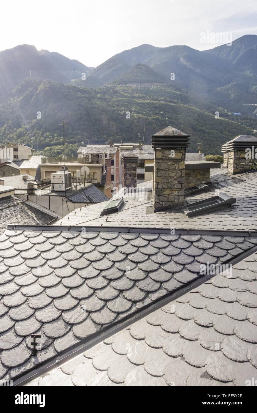Andorra la Vella, capital city of Andorra, Andorra Stock Photo