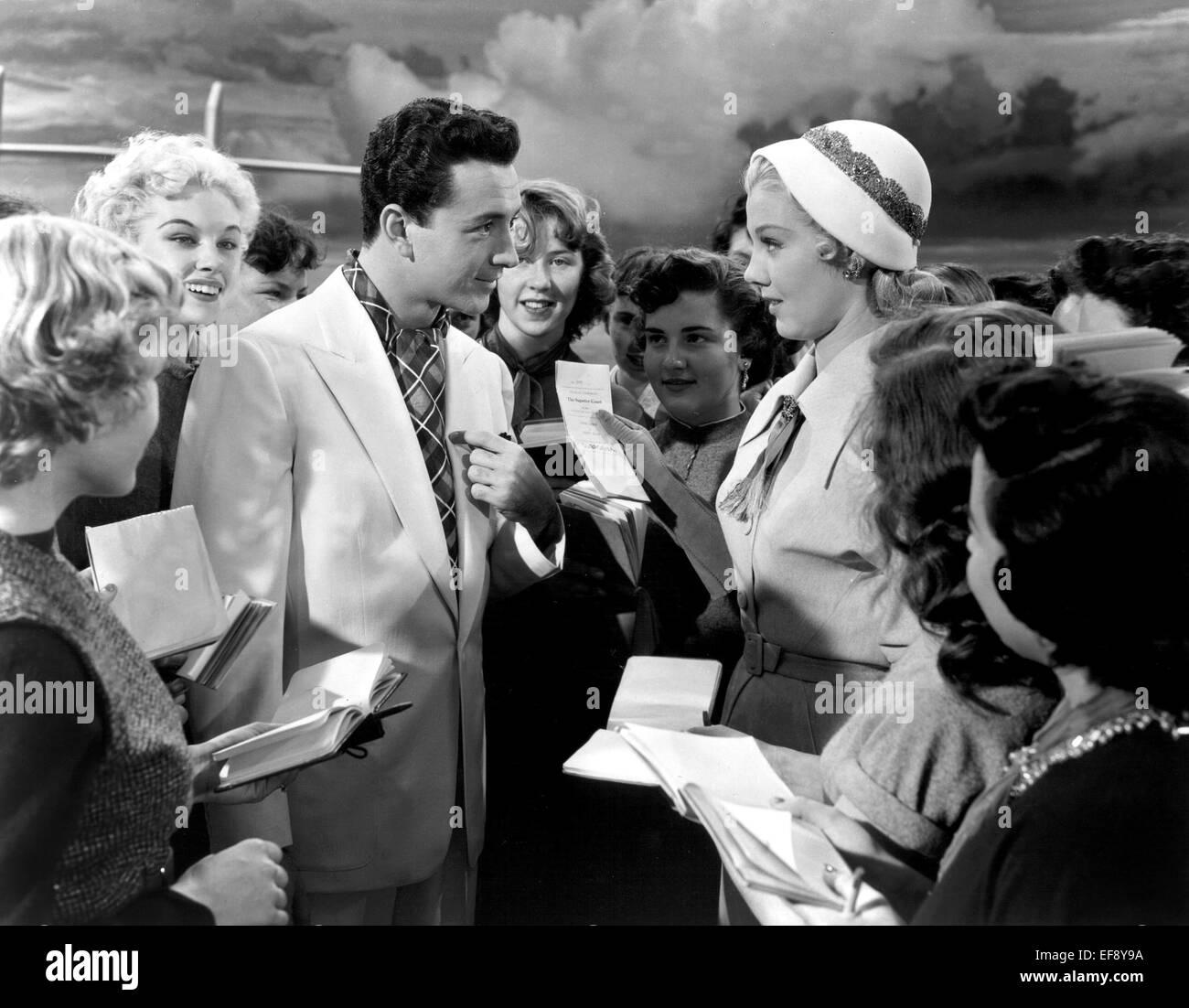 VIC DAMONE & JANE POWELL ATHENA (1954) - Stock Image