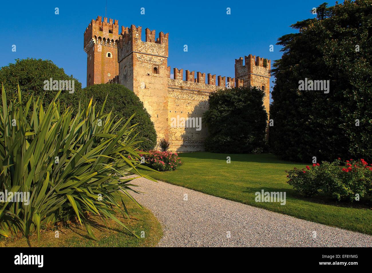 Lazise Bernini Villa, Sforzesco Castle - Stock Image