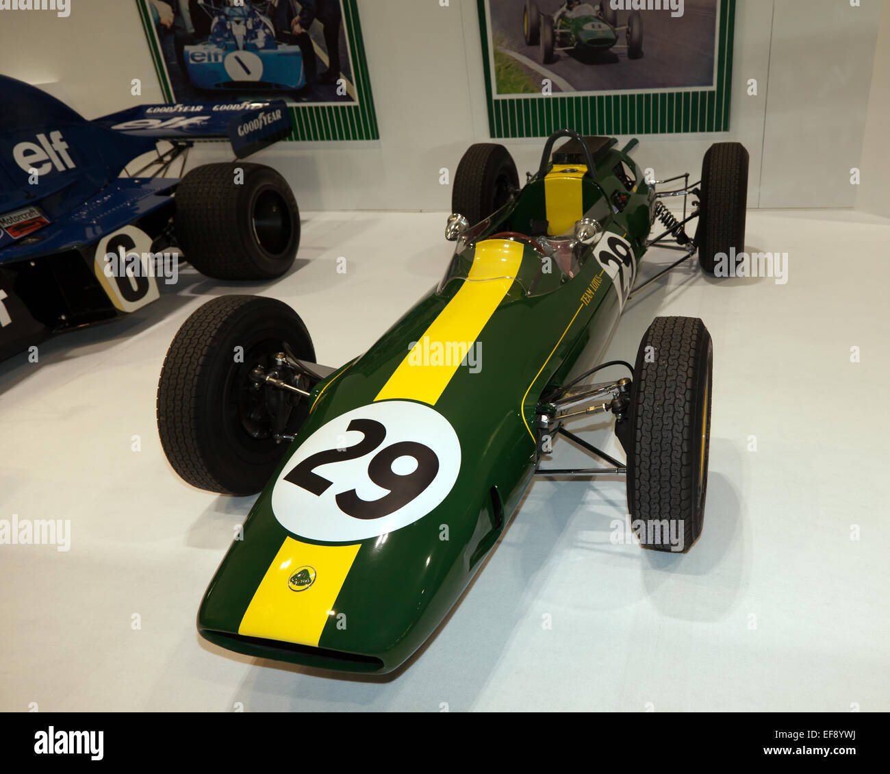 Jim Clark's 1962/63 Lotus 25: the car he won his first F1 world title in. - Stock Image