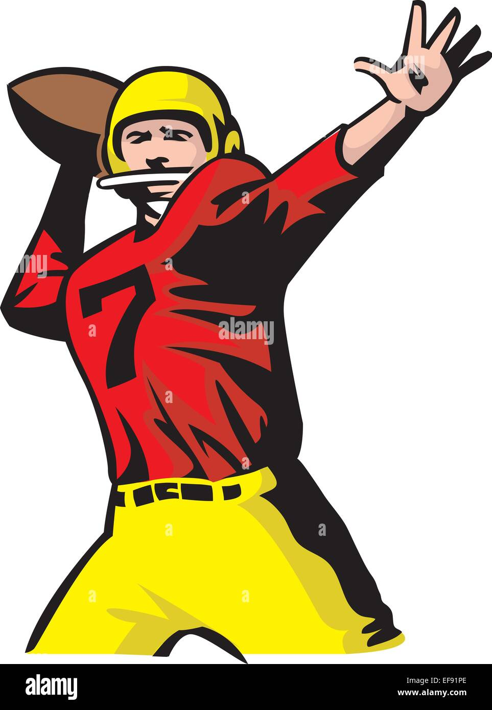 Throwing Football Cartoon Stock Photos Throwing Football Cartoon
