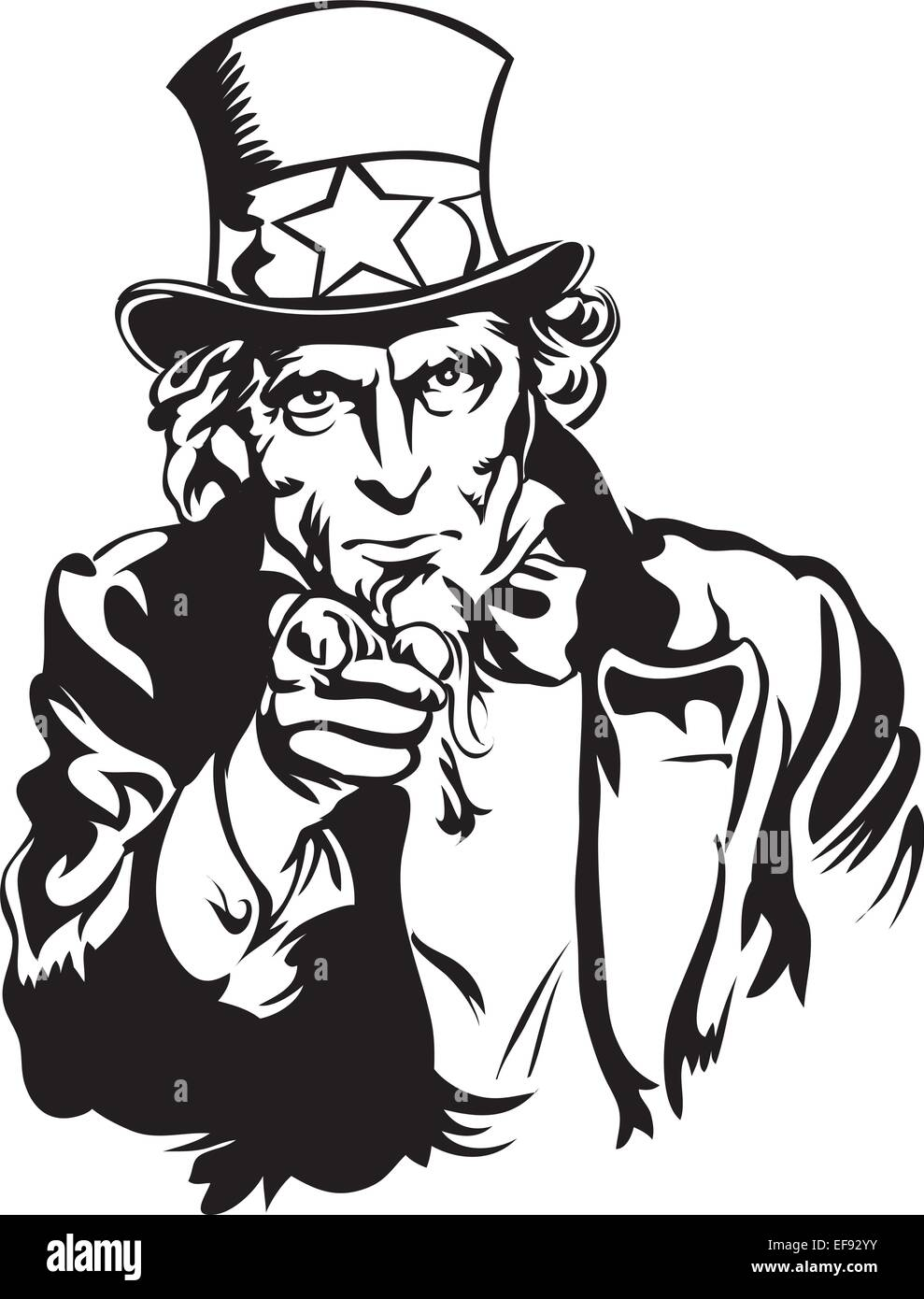 portrait of uncle sam stock vector art illustration vector image rh alamy com uncle sam vector free download uncle sam we want you vector