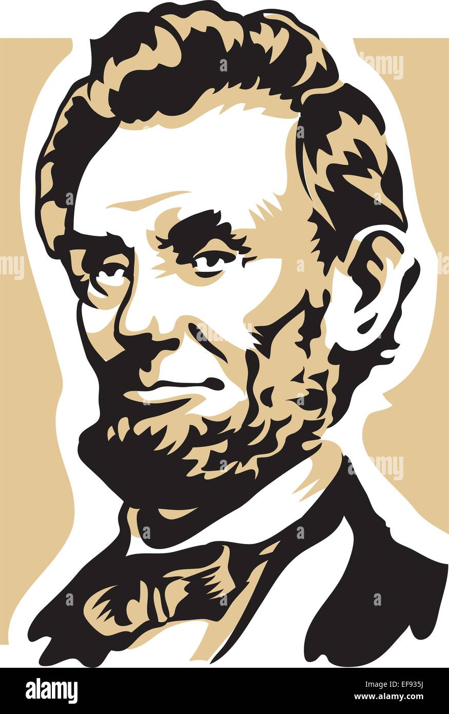 Abraham Lincoln - Stock Vector