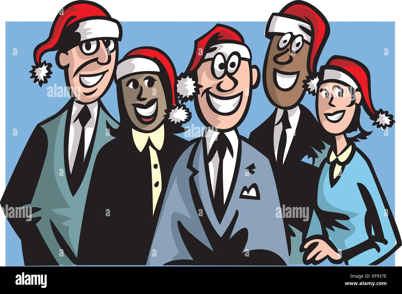 Office Christmas Party Stock Vector Art & Illustration, Vector Image ...