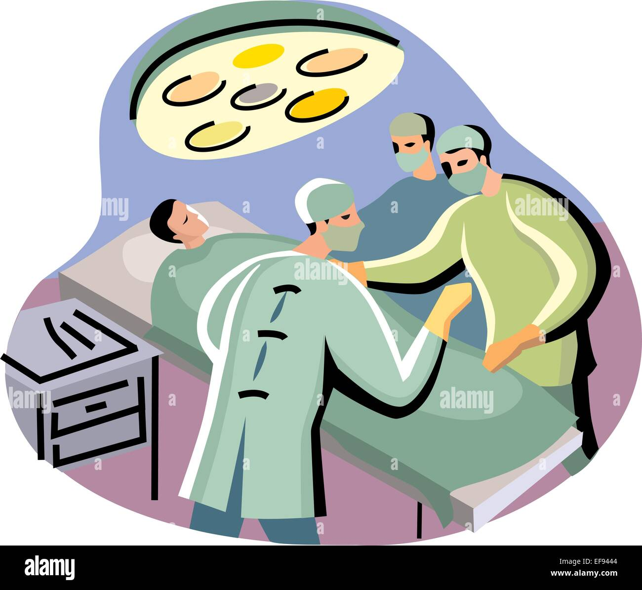 Doctors Performing Surgery - Stock Vector
