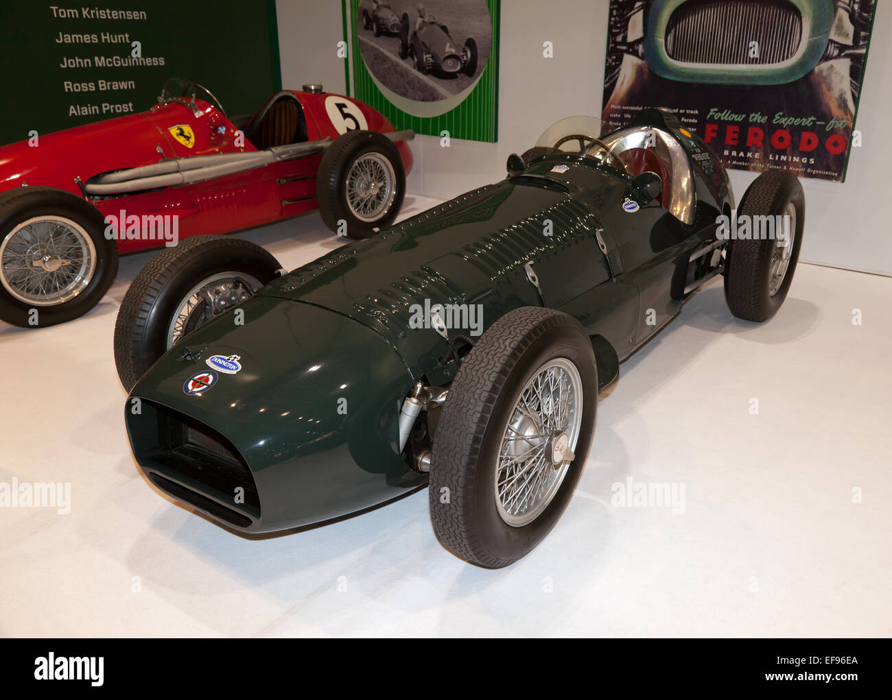 A BRM V16 MkII   Racing Car, driven by Juan Manuel Fangio and Sir Jakie Stewart in 1952/53. - Stock Image