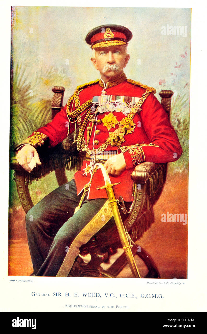Celebrities of the Army 1900 General Sir H E Wood V C G C B G C M G Adjutant to the Forces Stock Photo