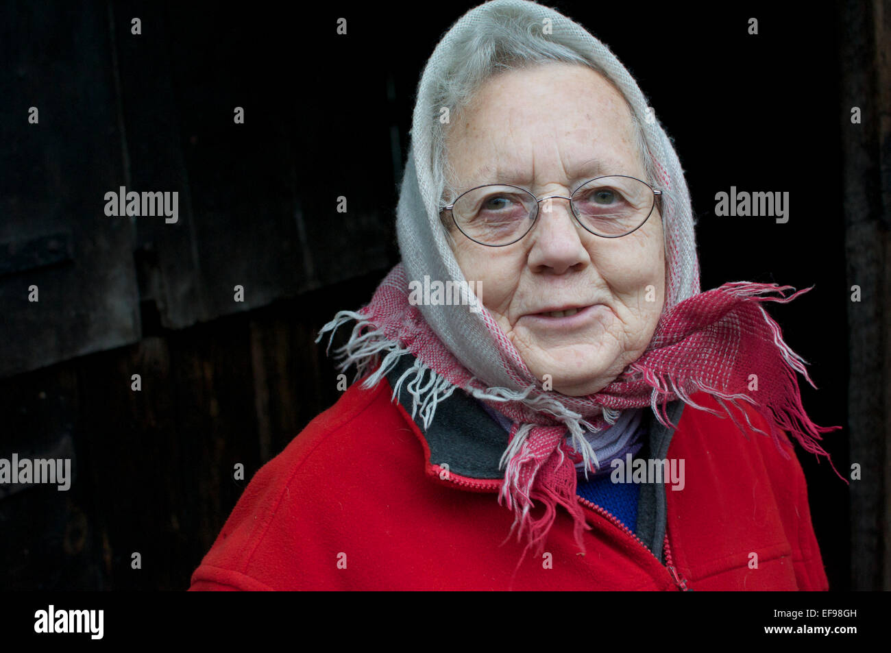 A respected village lady - Stock Image