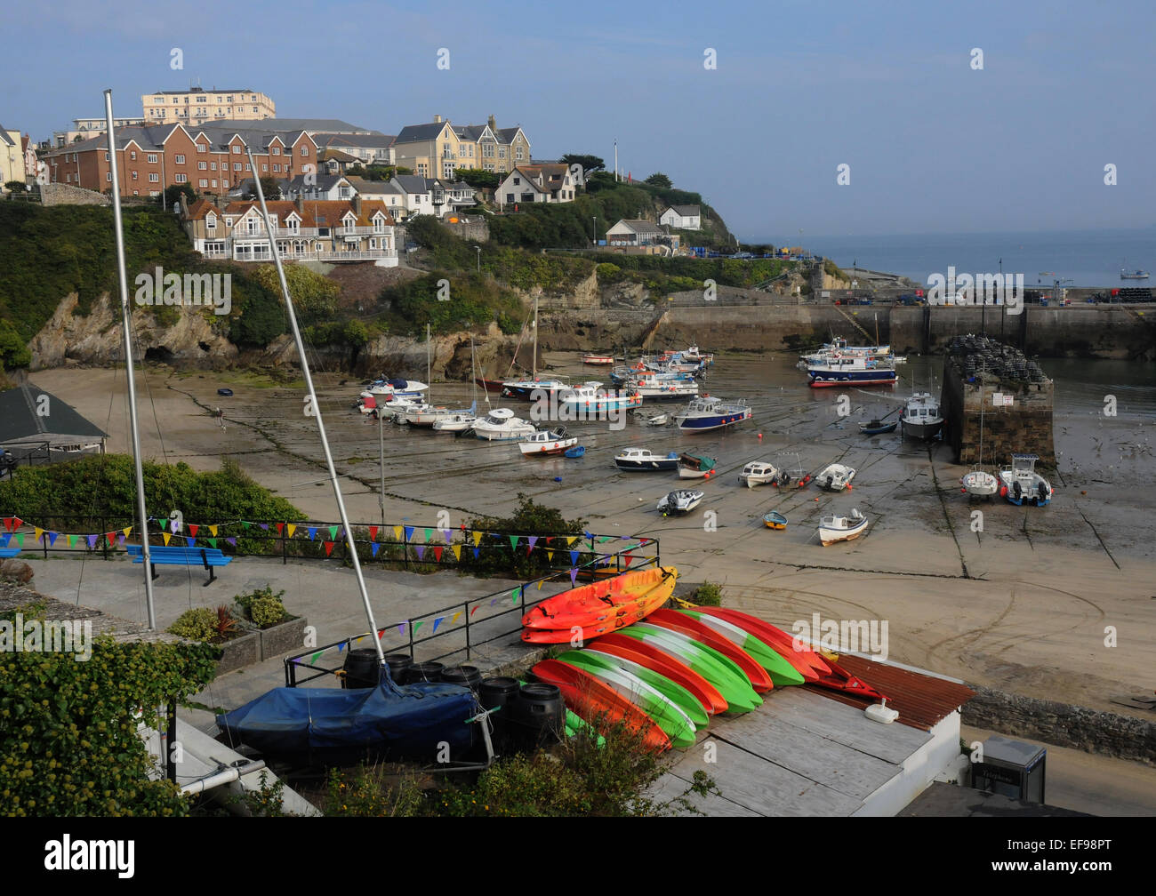 The harbour at Newquay, Cornwall. - Stock Image