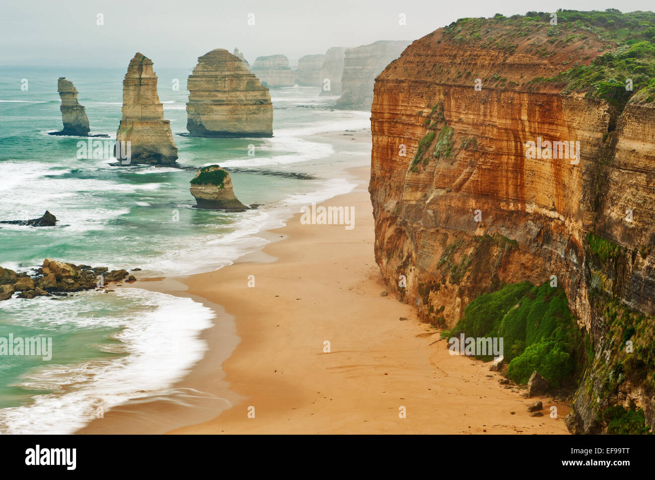 Rock formation of the Twelve Apostles. - Stock Image