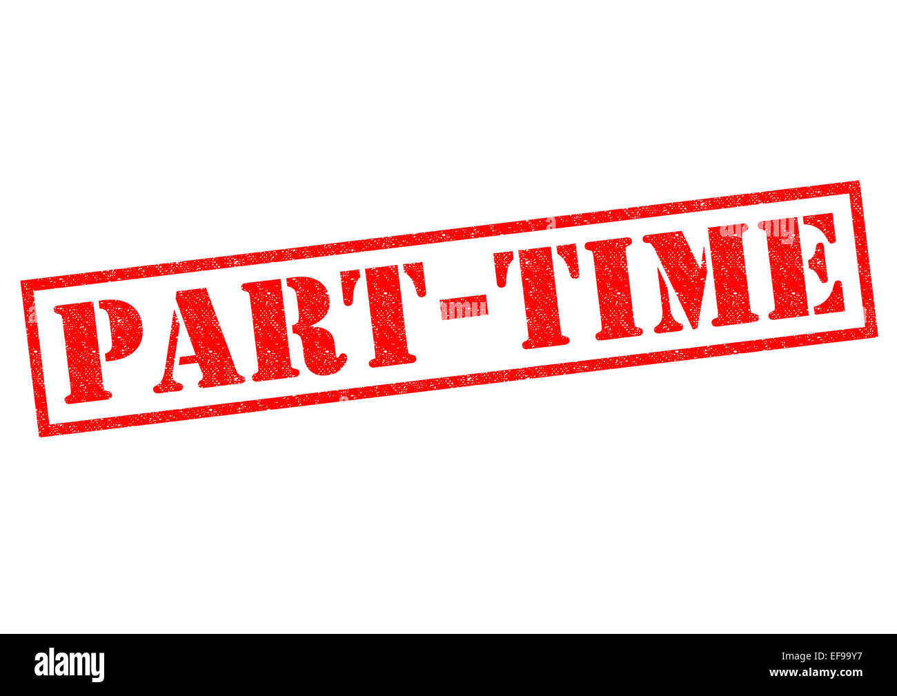 PART-TIME red Rubber Stamp over a white background. - Stock Image