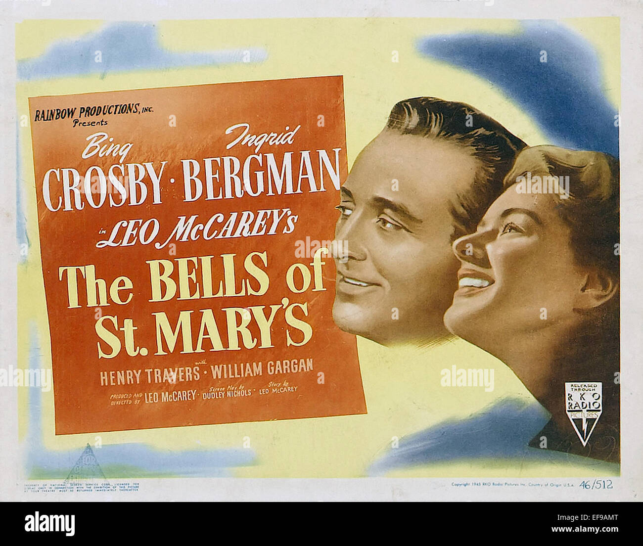 The Bells of St Mary's - Movie Poster - Stock Image