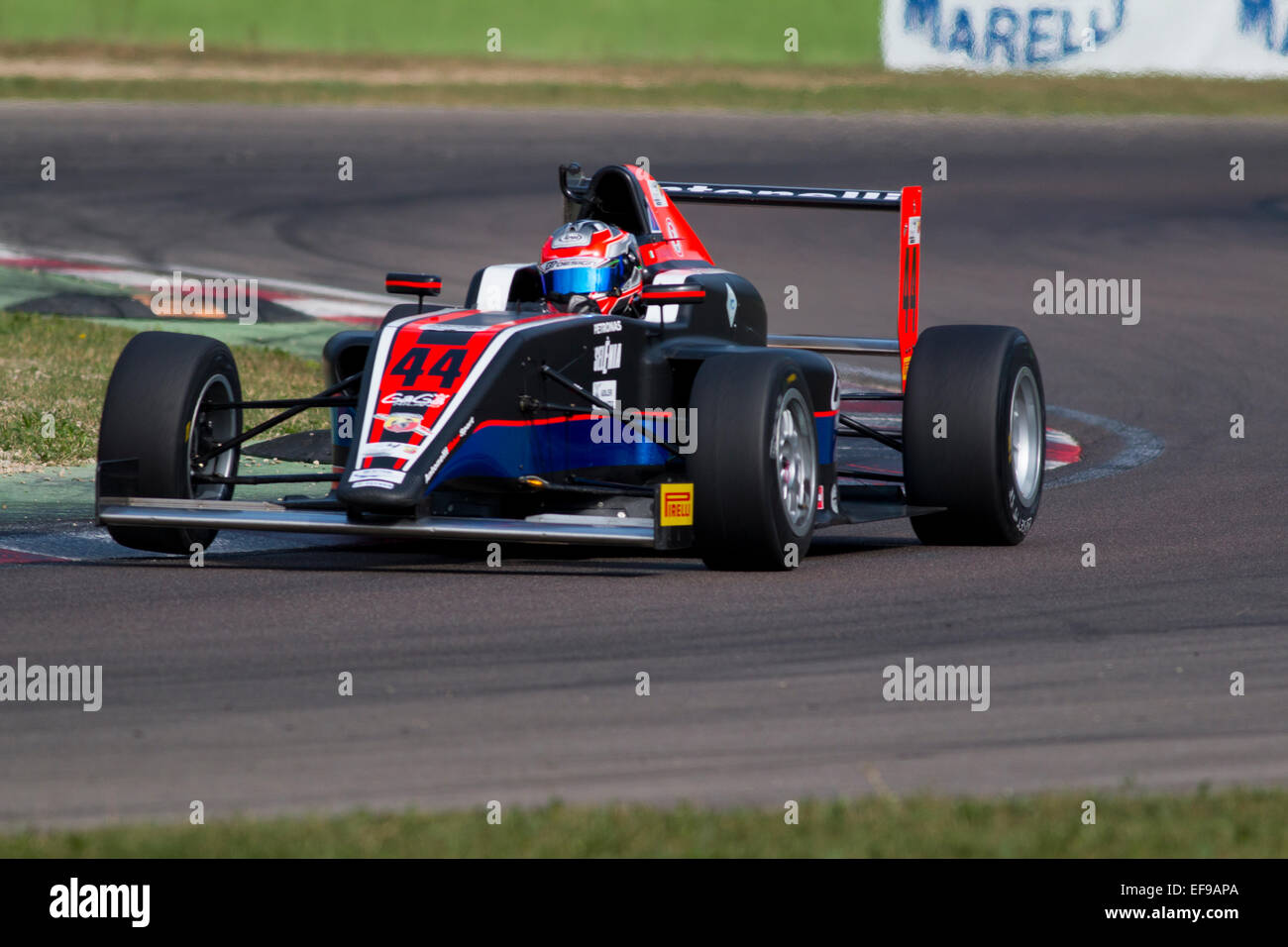 Imola, Italy - October 11, 2014: A Tatuus F.4 T014 Abarth of Antonelli Motorsportteam, driven By Desideri Matteo Stock Photo