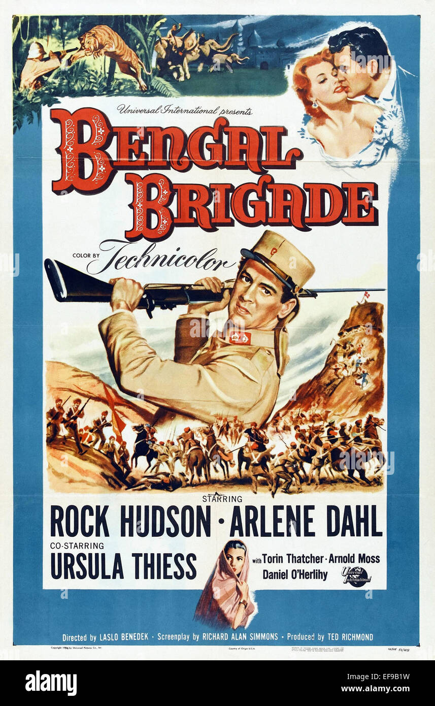 Bengal Brigade - Movie Poster - Stock Image