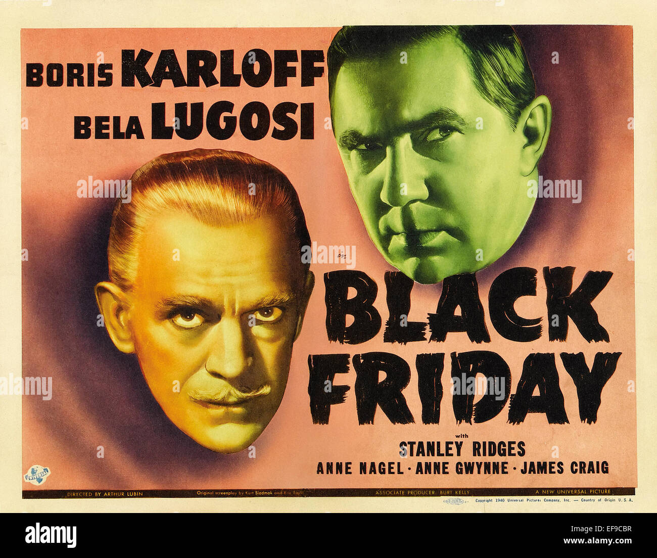 The Black Friday - 1940 - Movie Poster - Stock Image