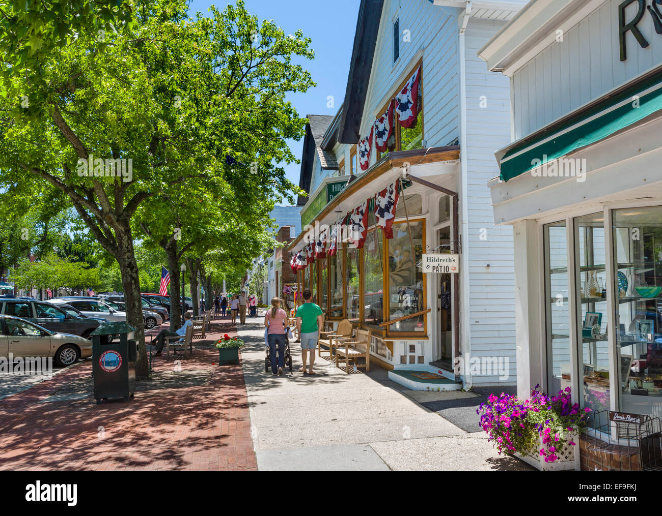 main street in the village of southampton suffolk county long stock photo 78271190 alamy. Black Bedroom Furniture Sets. Home Design Ideas