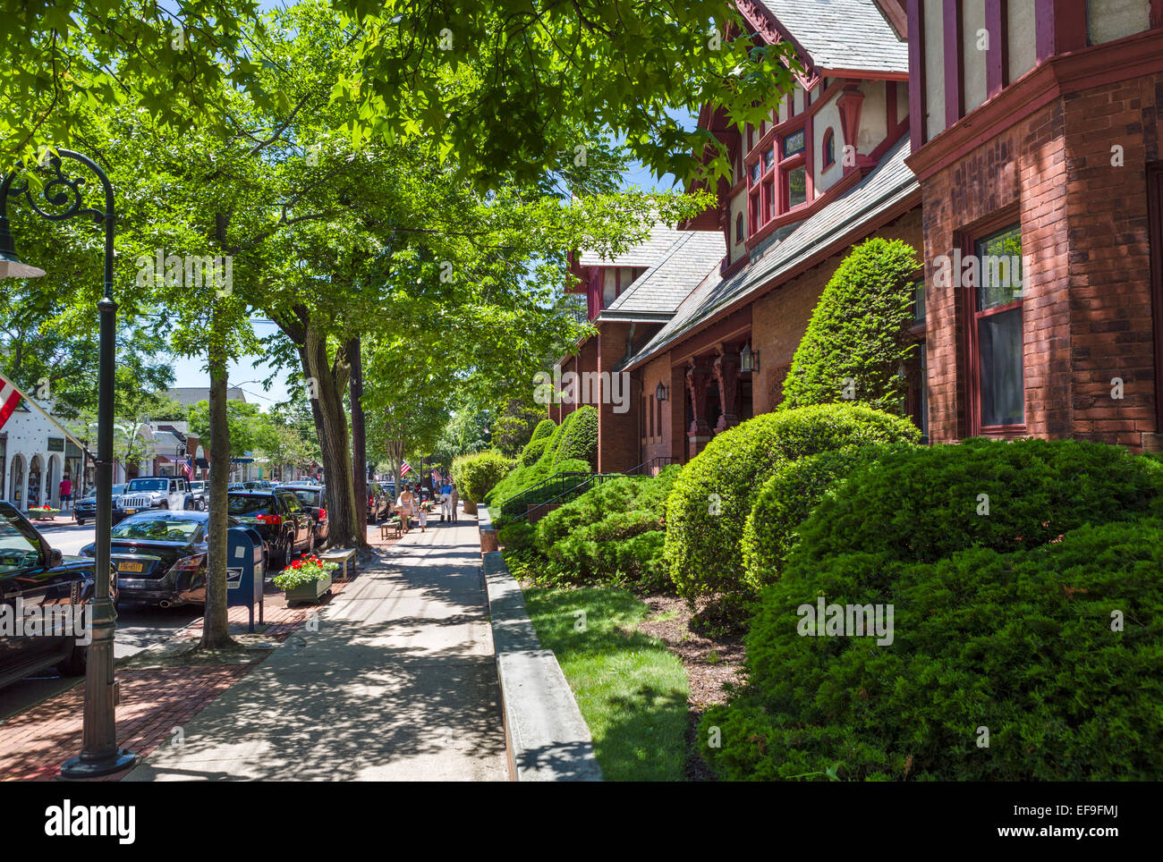 Jobs Lane in the village of Southampton, Suffolk County, Long Island , NY, USA - Stock Image
