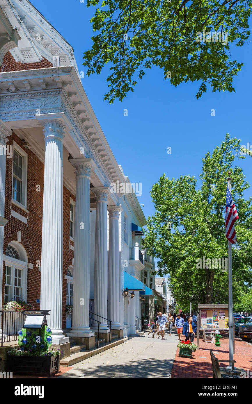 Village Hall on Main Street in the village of Southampton, Suffolk County, Long Island , NY, USA - Stock Image