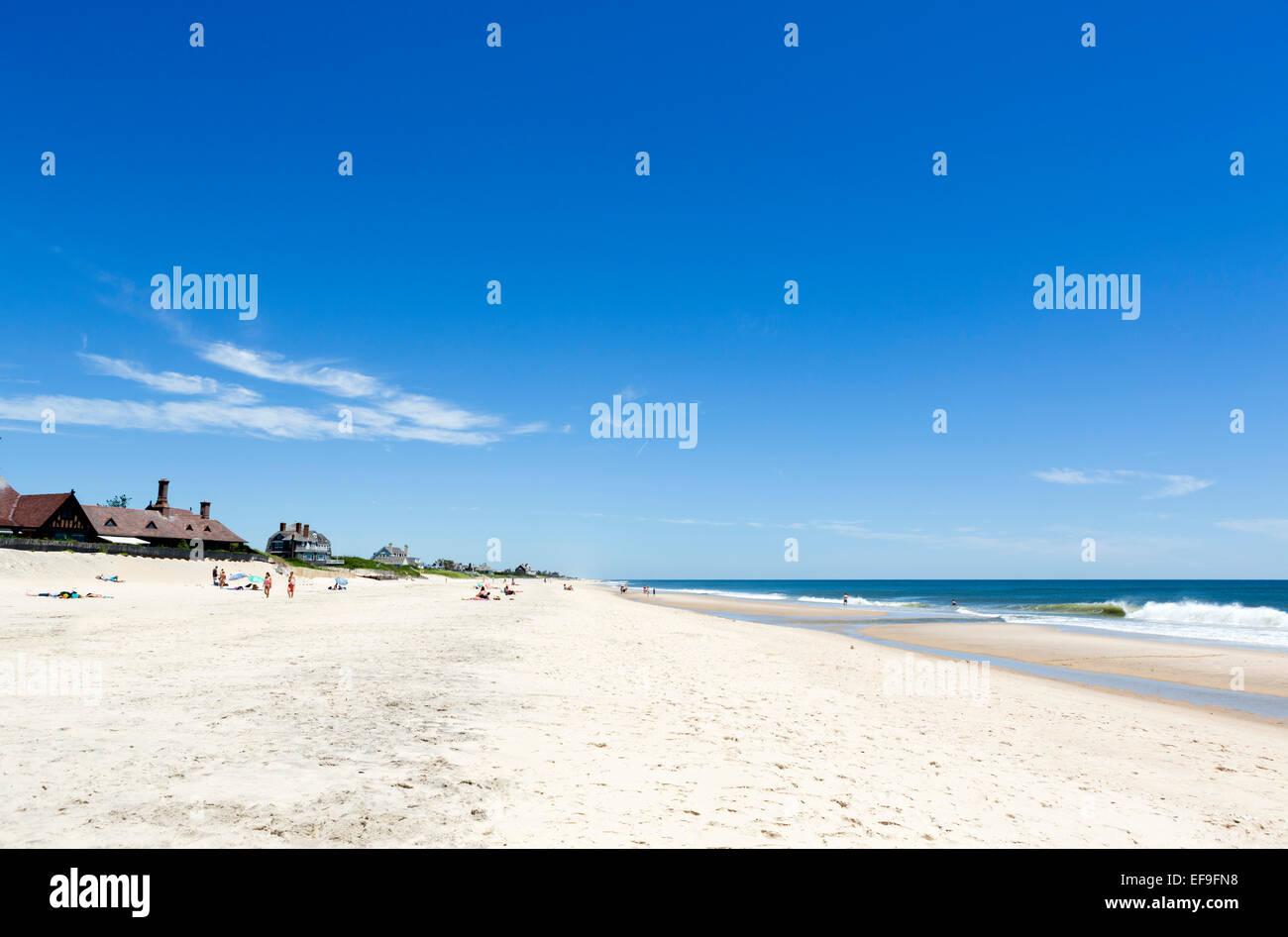 Beach at Southampton, The Hamptons, Suffolk County, Long Island , NY, USA - Stock Image
