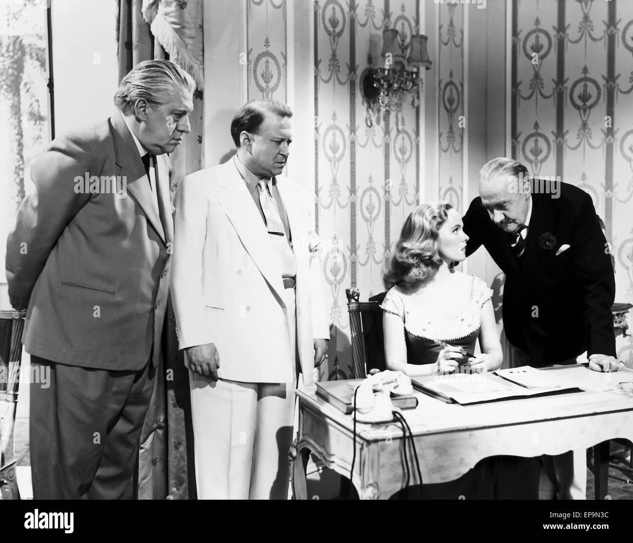 JAMES HAYTER PEGGY CUMMINS & RONALD SQUIRE ALWAYS A BRIDE (1953) - Stock Image