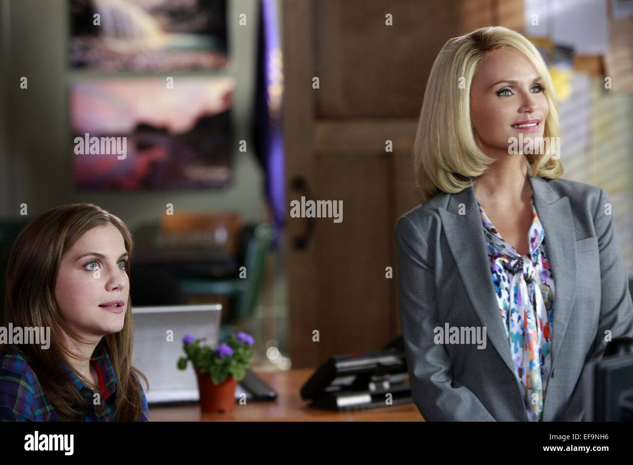 Anna Chlumsky Kristin Chenoweth 12 Men Of Christmas 2009 Stock