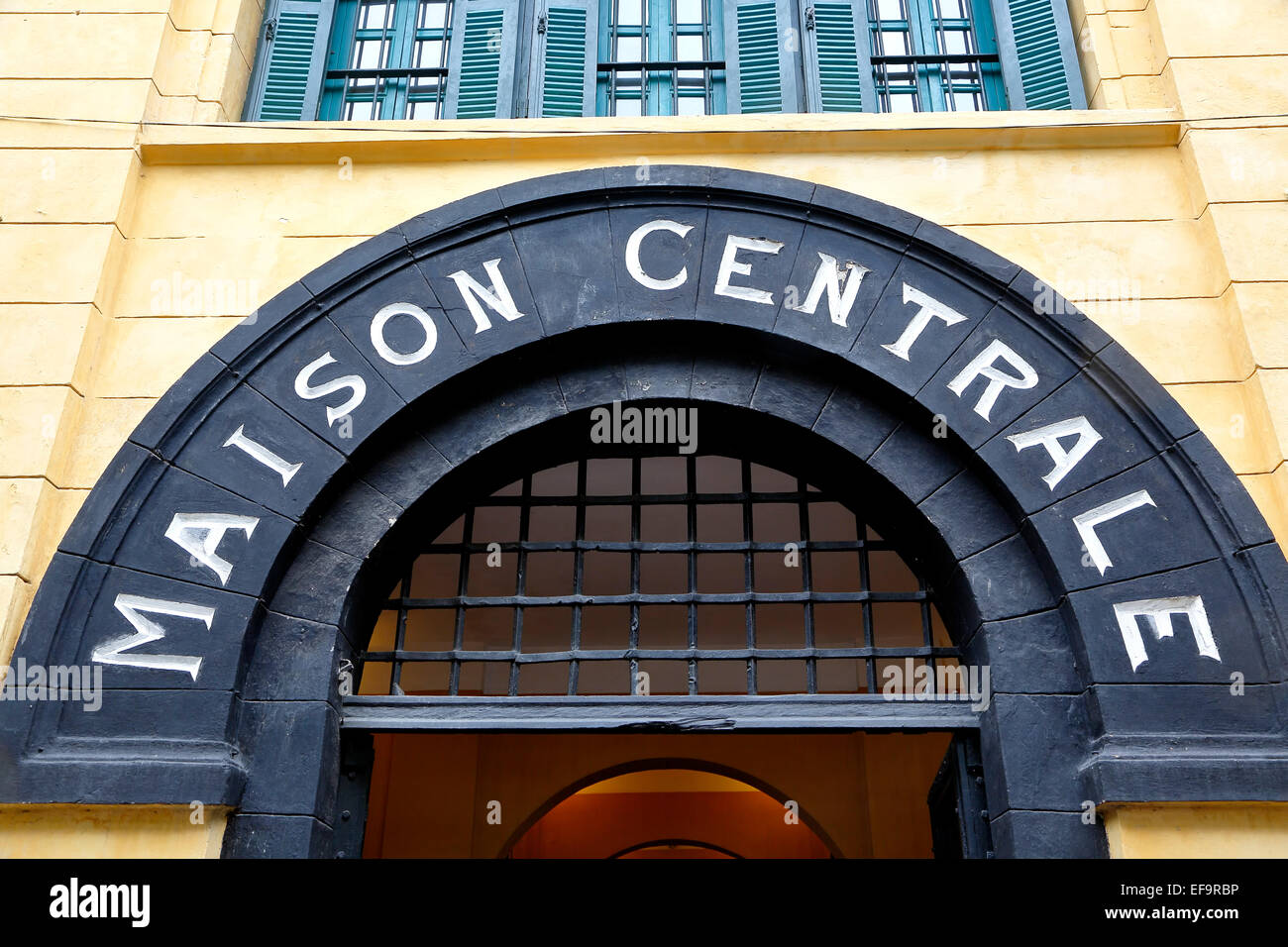 Entrance to Hoa Lo Prison (aka Hanoi Hilton), Hanoi, Vietnam - Stock Image
