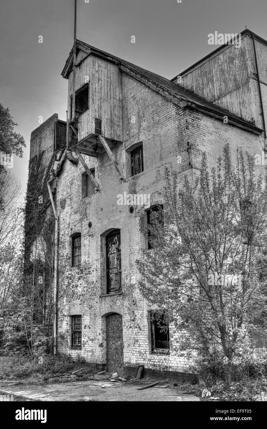 Old water Mill East Sussex, this mill has been left to fall into decay. - Stock Image