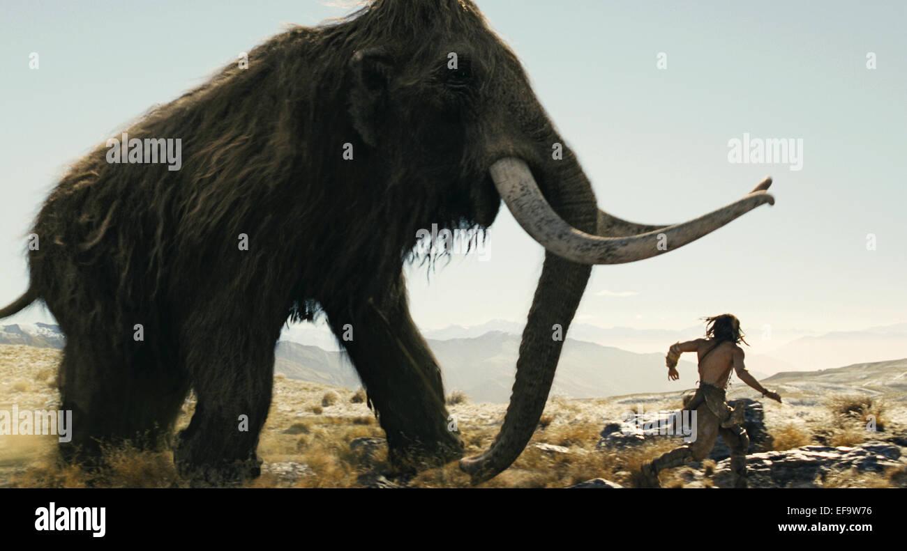 MAMMOTH & STEVEN STRAIT 10 000 BC (2008 Stock Photo