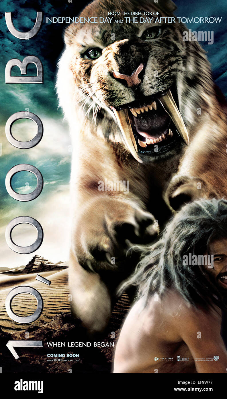 MOVIE POSTER 10 000 BC (2008) - Stock Image