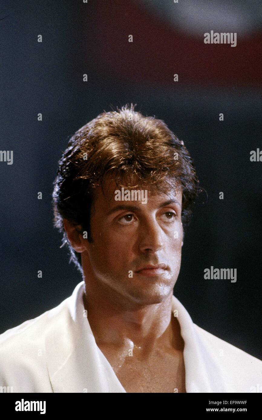 SYLVESTER STALLONE ROCKY IV (1985) - Stock Image