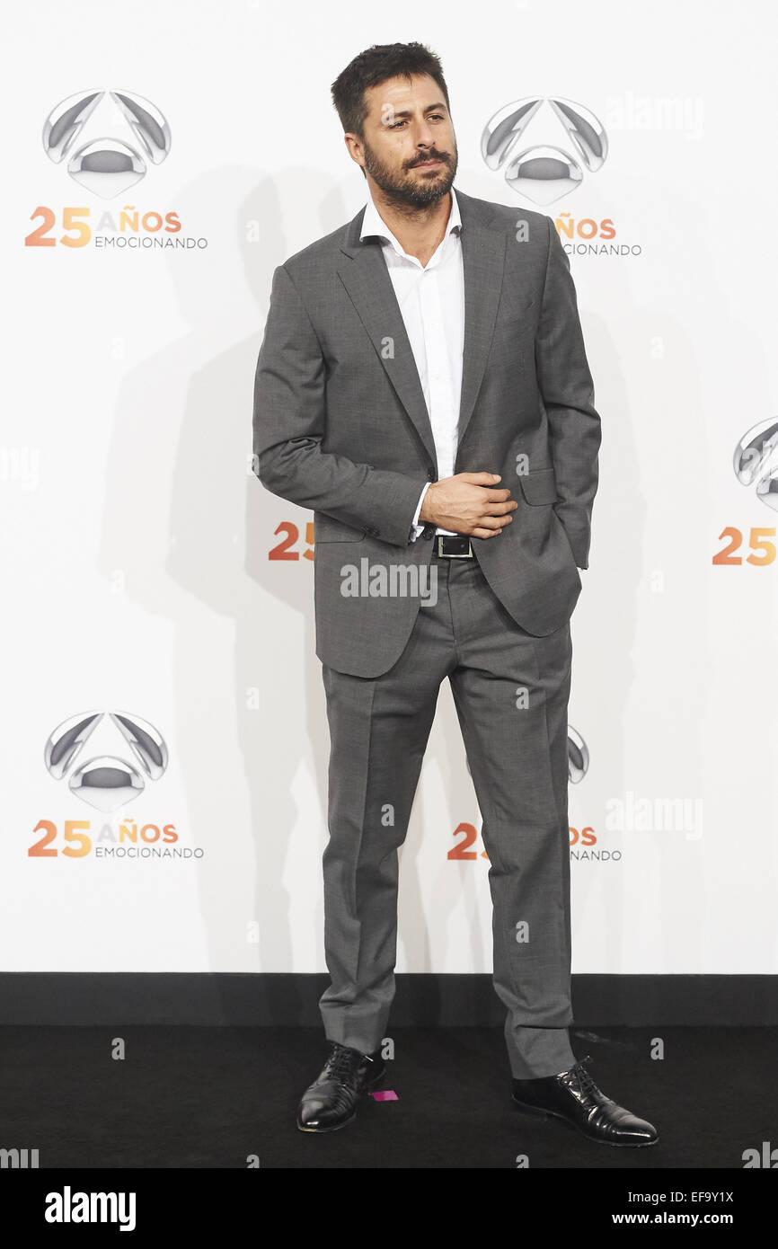 Madrid, Spain  29th Jan, 2015  Hugo Silva attended to Antena