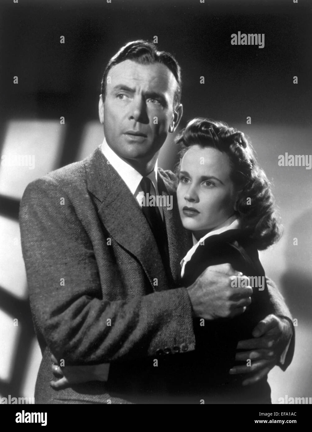 DEAN JAGGER, KIM HUNTER, WHEN STRANGERS MARRY, 1944 - Stock Image