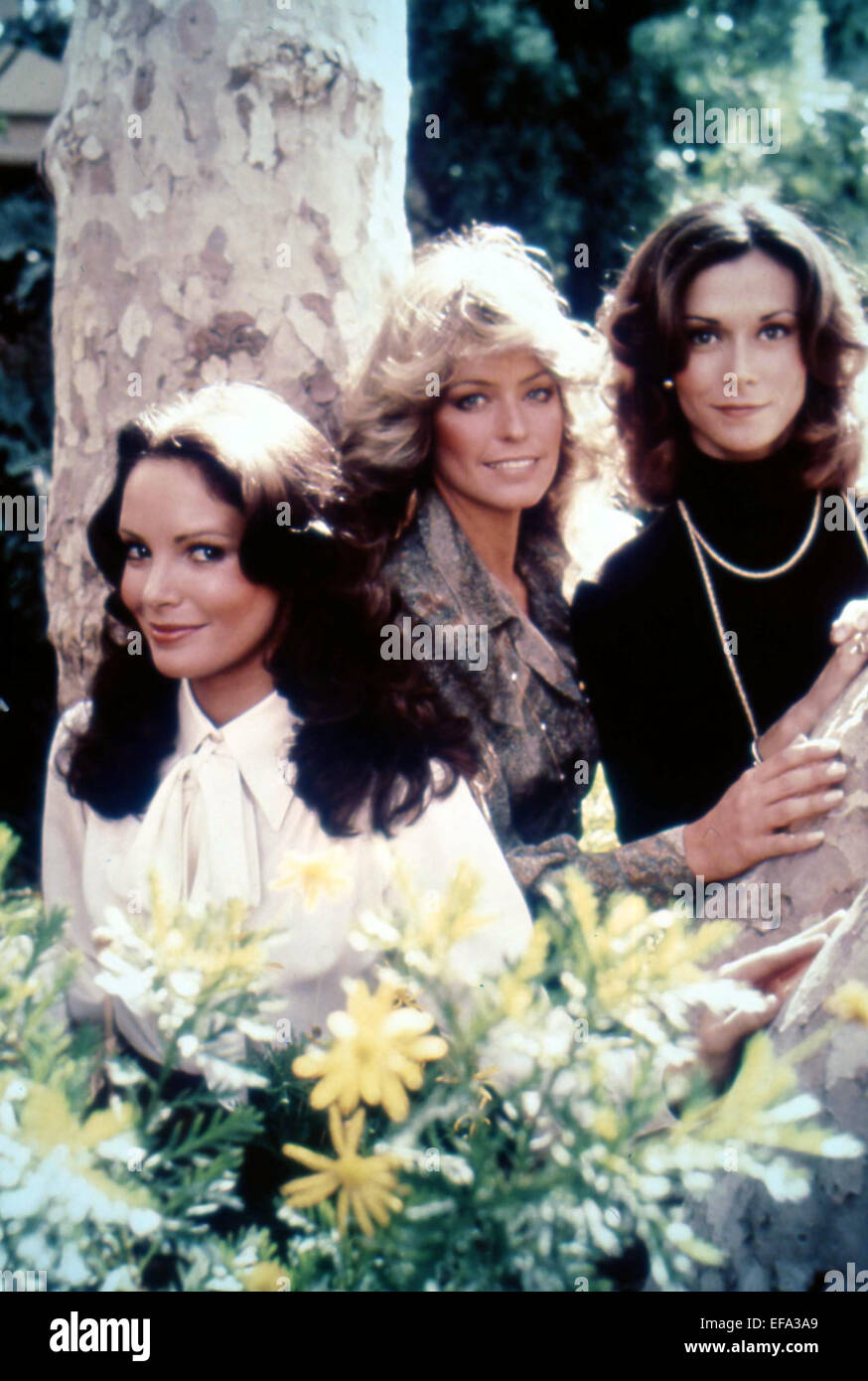 JACLYN SMITH, FARRAH FAWCETT, KATE JACKSON, CHARLIE'S ANGELS, 1976 - Stock Image