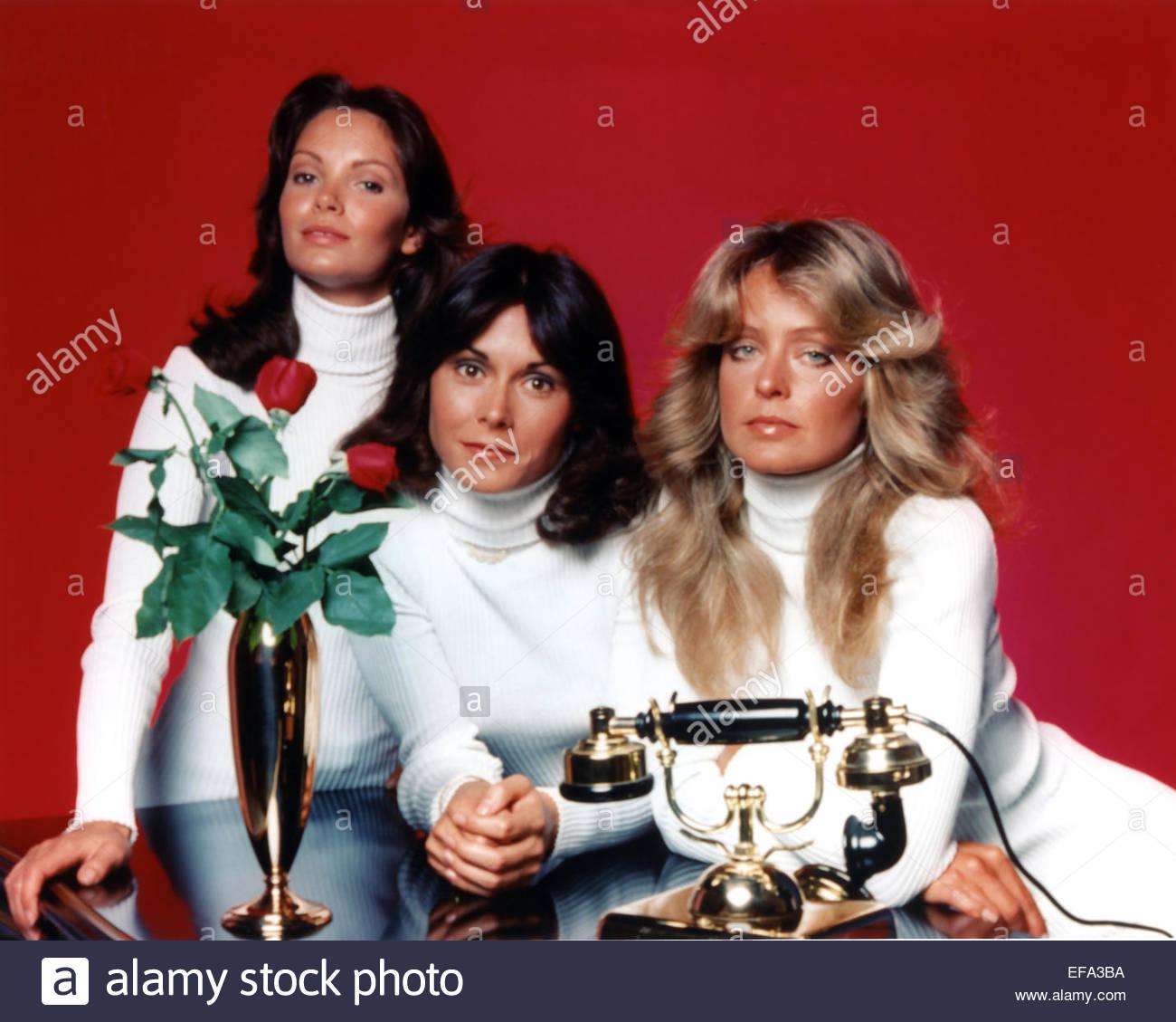 JACLYN SMITH, KATE JACKSON, FARRAH FAWCETT, CHARLIE'S ANGELS, 1976 - Stock Image