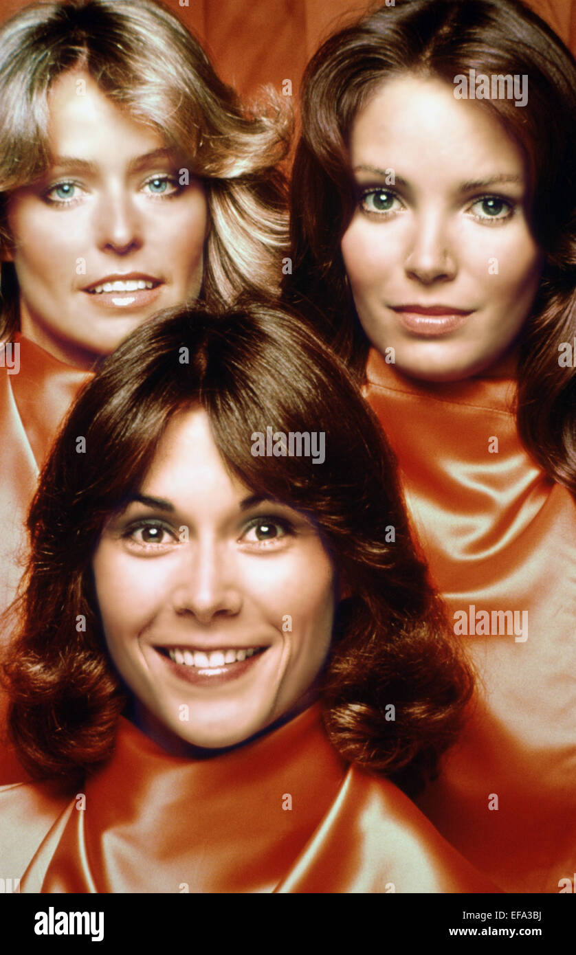 FARRAH FAWCETT, JACLYN SMITH, KATE JACKSON, CHARLIE'S ANGELS, 1976 - Stock Image