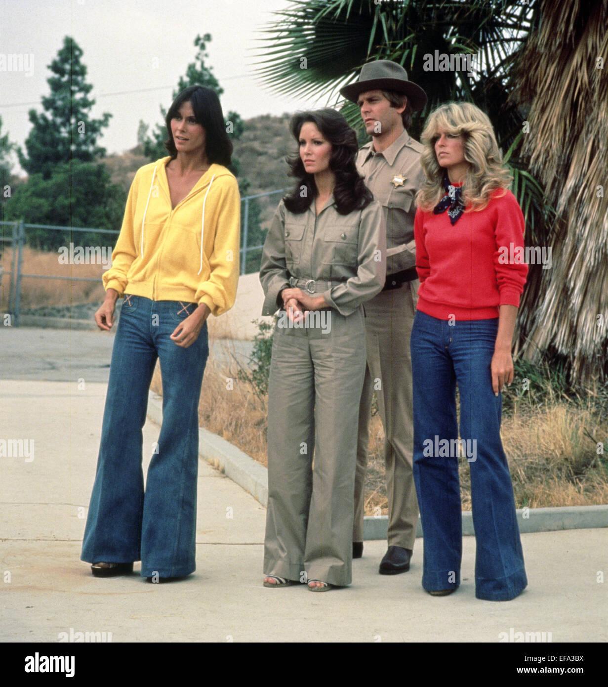 KATE JACKSON, JACLYN SMITH, FARRAH FAWCETT, CHARLIE'S ANGELS, 1976 - Stock Image