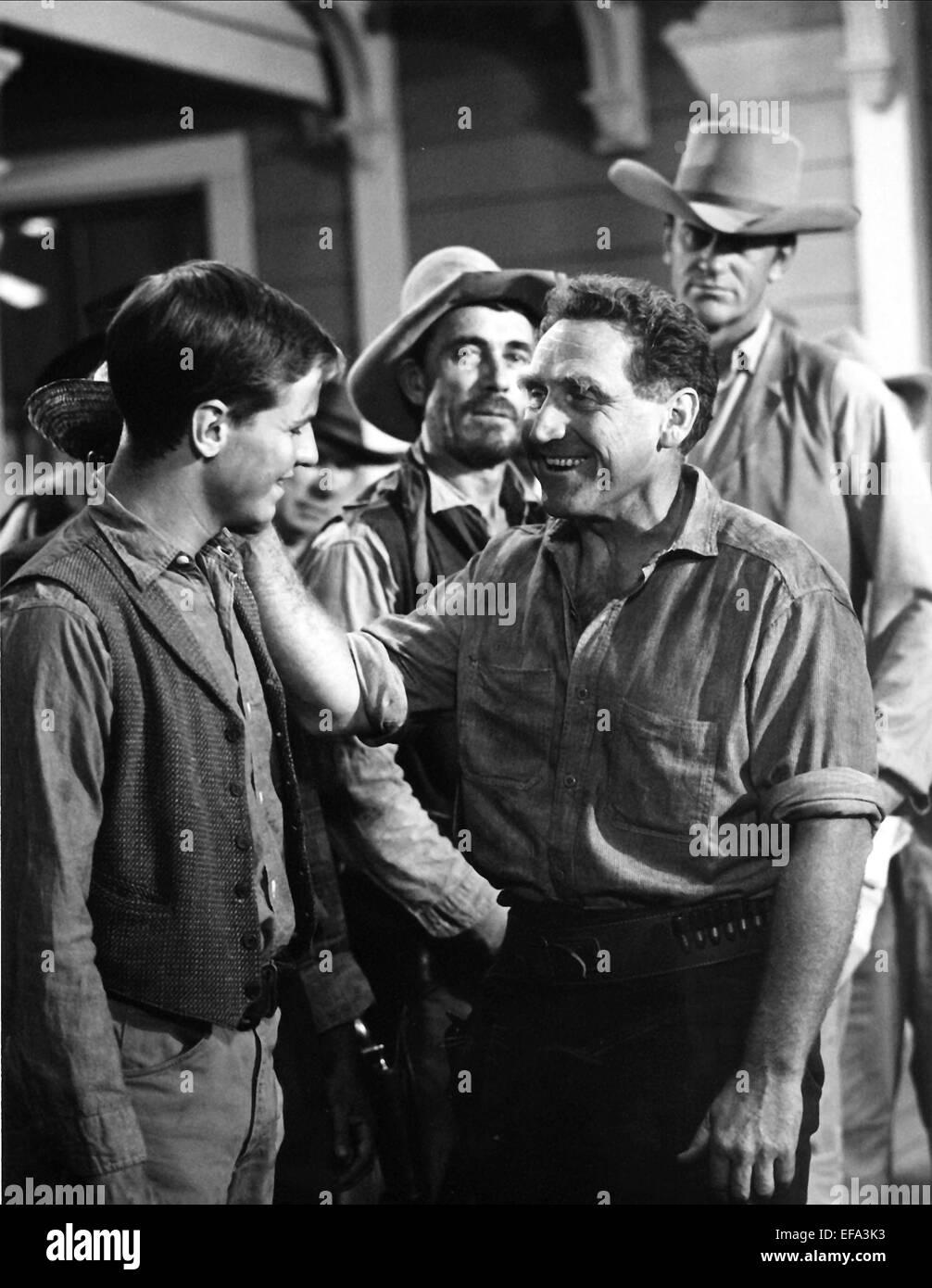 JAMES WHITMORE, KEN CURTIS, JAMES ARNESS, GUNSMOKE, 1959 - Stock Image