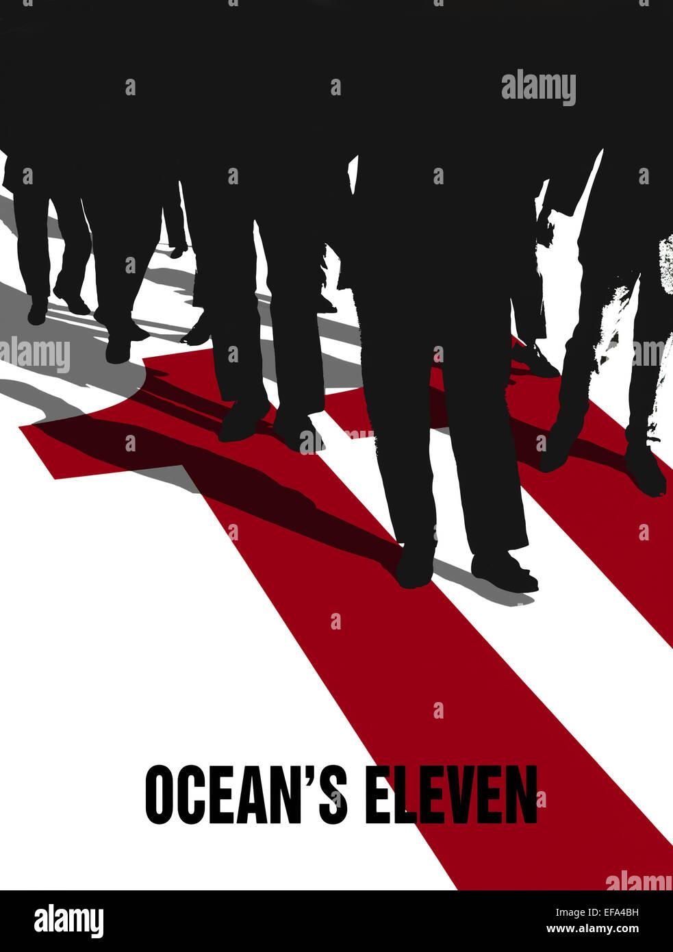 FILM ARTWORK OCEAN'S ELEVEN (2001) - Stock Image
