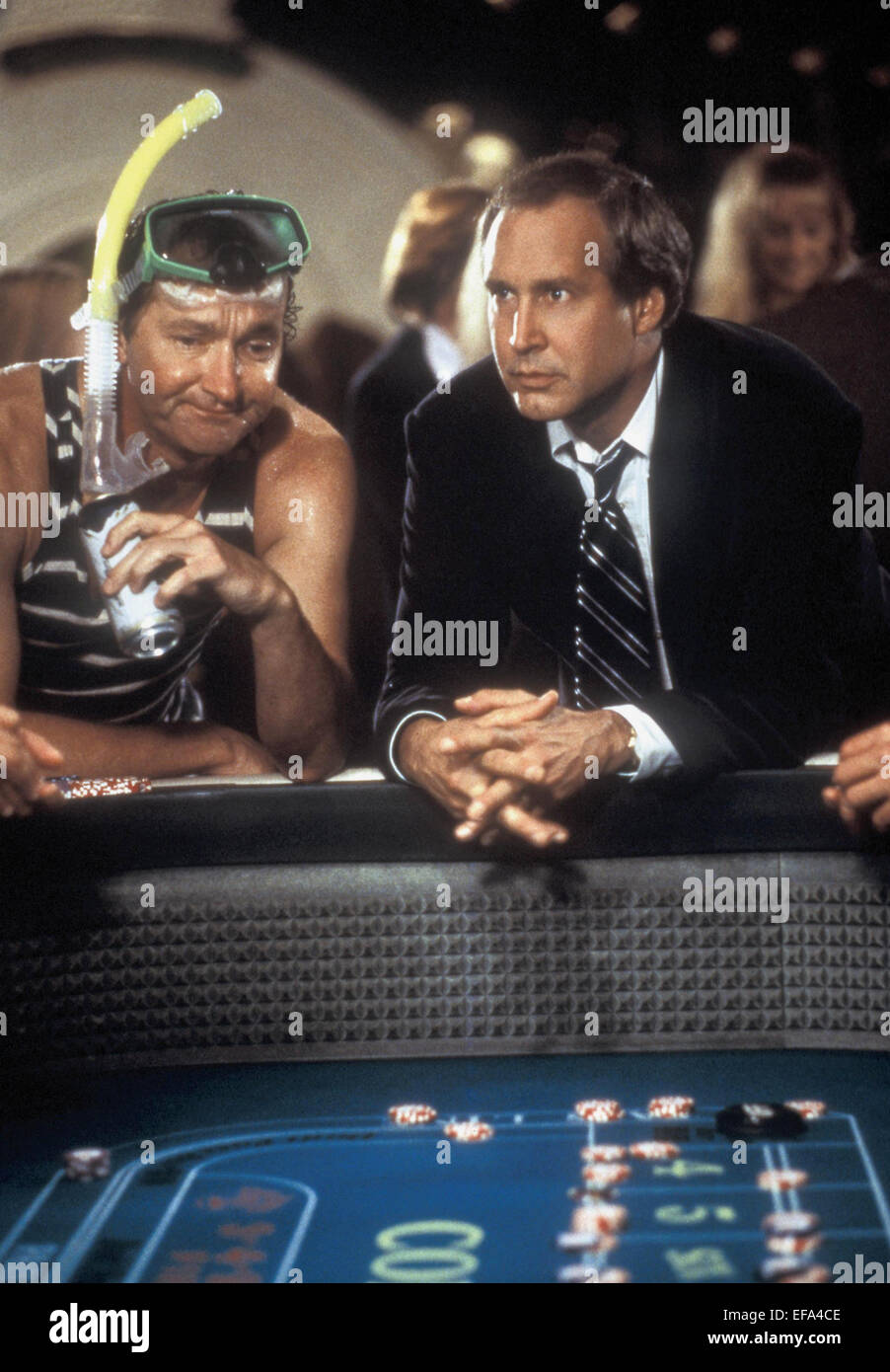 Chevy Chase Randy Quaid Signed Vegas: RANDY QUAID & CHEVY CHASE VEGAS VACATION (1997 Stock Photo