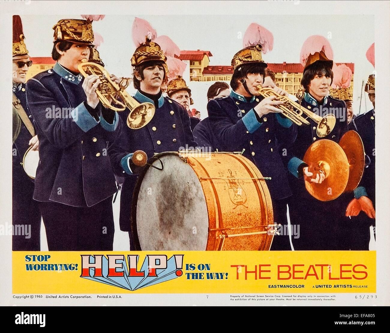 PAUL MCCARTNEY, JOHN LENNON, RINGO STARR, GEORGE HARRISON, HELP!, 1965 - Stock Image