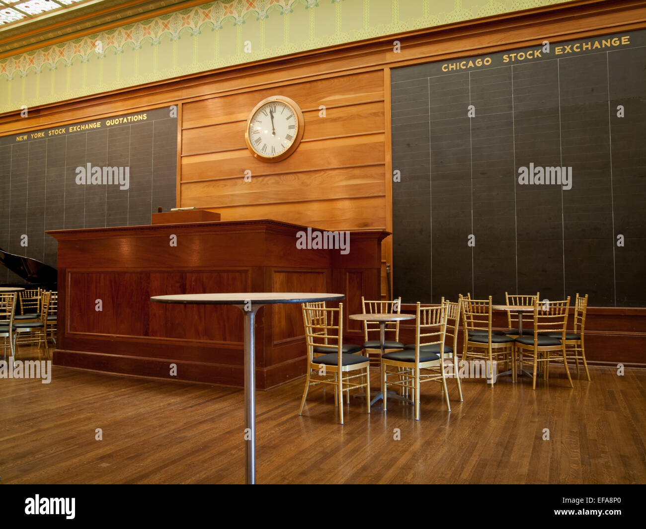 The reconstruction of the Chicago Stock Exchange Trading Room at the Art Institute of Chicago. - Stock Image