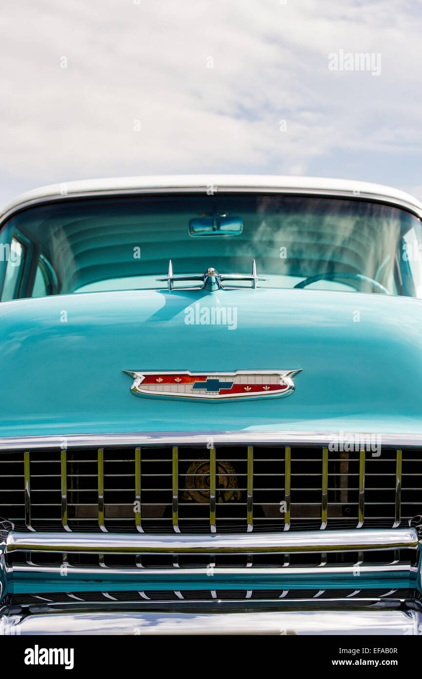 1955 Chevrolet Bel Air front end. Chevy. Classic American car - Stock Image