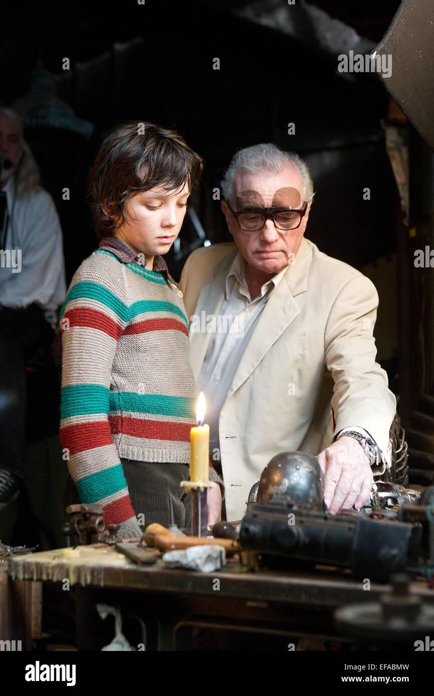 Asa Butterfield Martin Scorsese Hugo 2011 Stock Photo Alamy