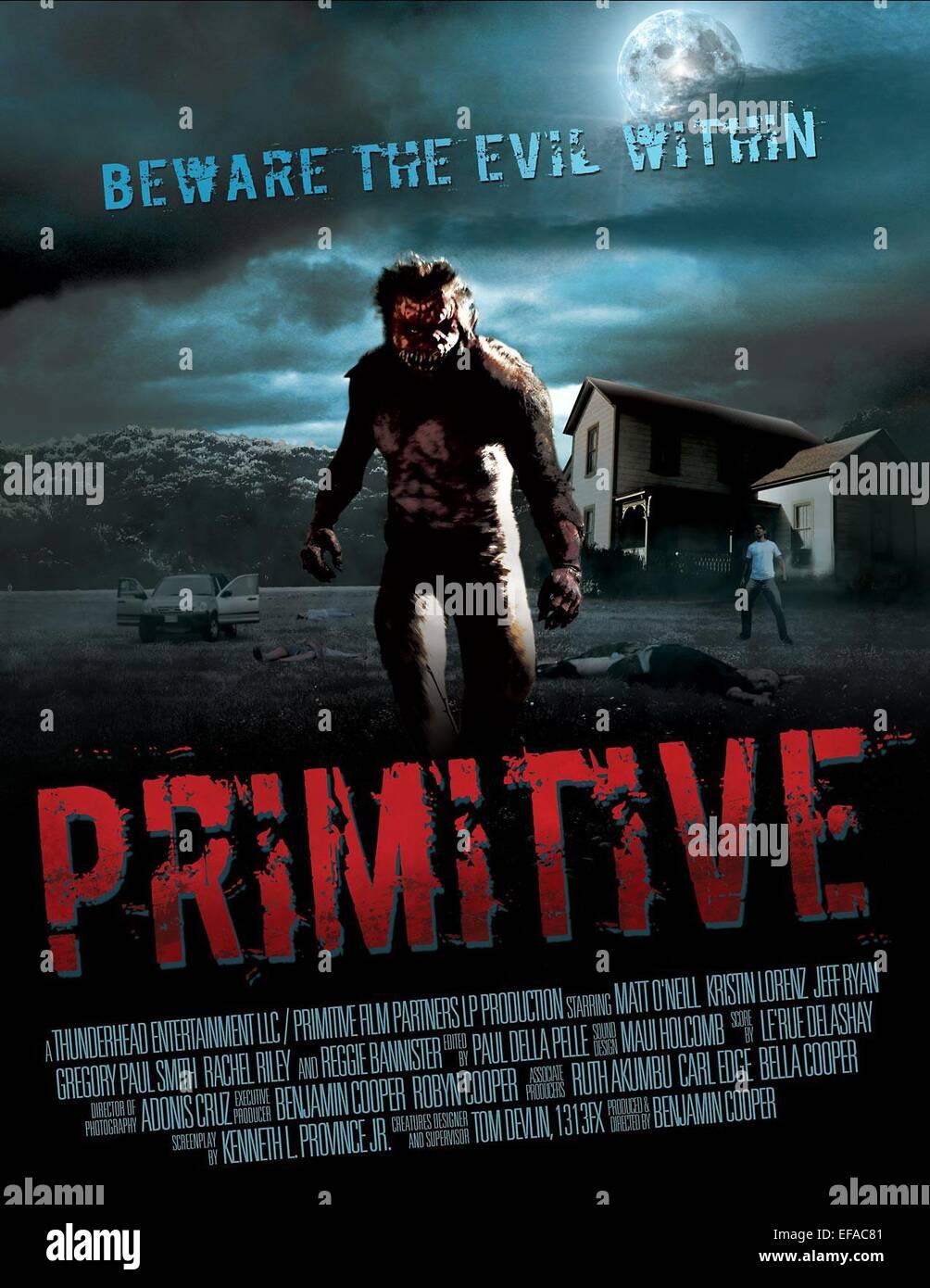 MOVIE POSTER PRIMITIVE (2011) - Stock Image