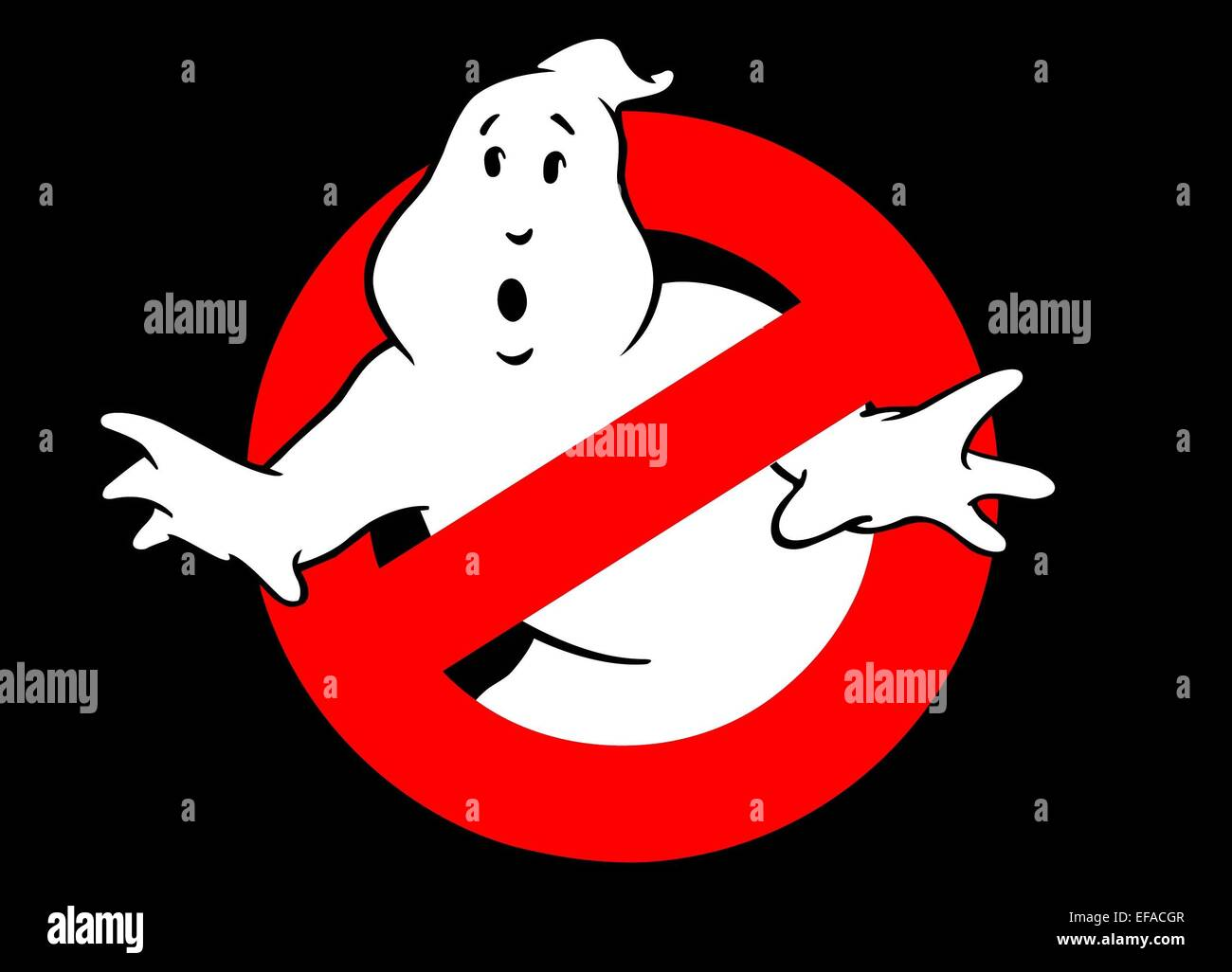 GHOSTBUSTER LOGO GHOSTBUSTERS (1984) Stock Photo