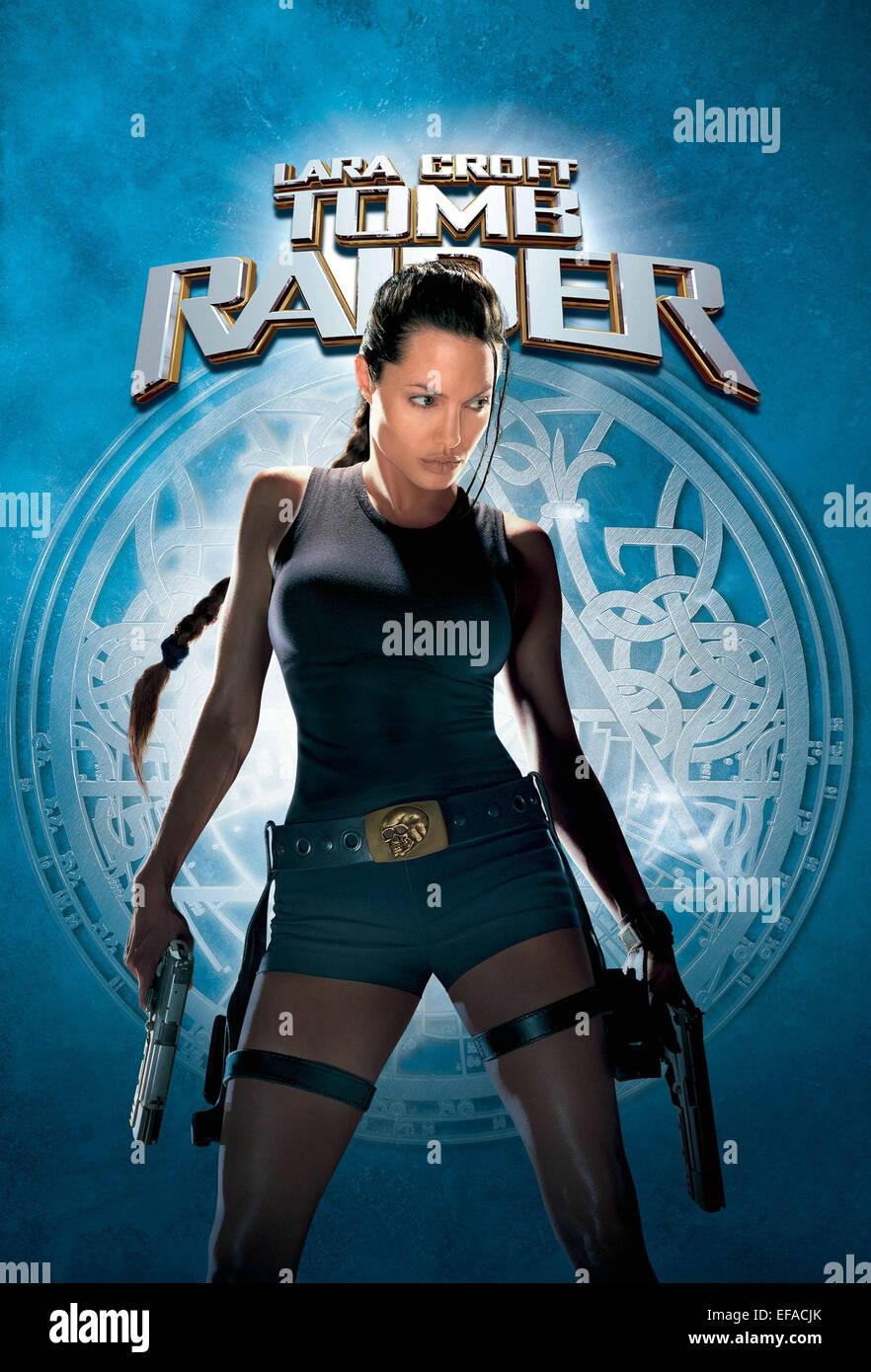 Movie Poster Lara Croft Tomb Raider 2001 Stock Photo